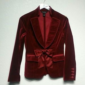 White House Black Market Ruby Velvet Jacket 00